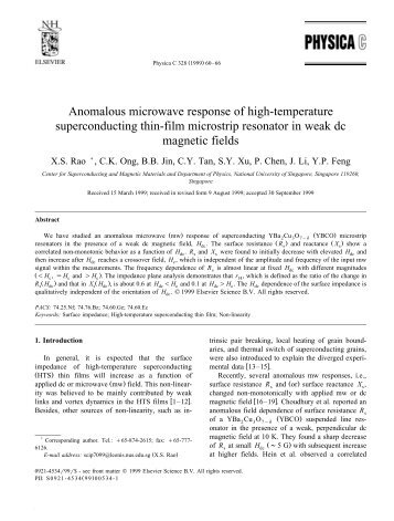 Anomalous microwave response of high-temperature ... - CT Systemes