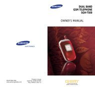 DUAL BAND GSM TELEPHONE SGH-T500 OWNER'S MANUAL