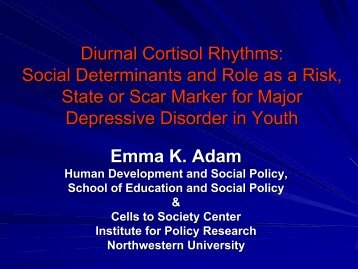 Diurnal Cortisol Rhythms: Social Determinants and Role as a Risk ...