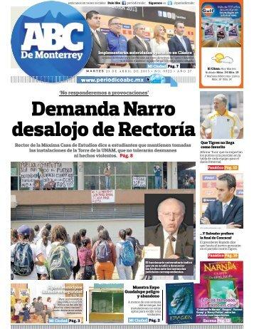 Demanda Narro desalojo de Rectoría - Periodicoabc.mx