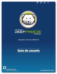 Instalación de Deep Freeze - Faronics