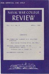 1961 April - US Naval War College