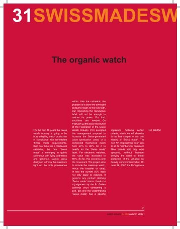 The organic watch - Watch Around