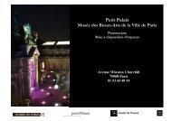 Brochure internet nouveaux tarifs 2011 - Le Petit Palais - Ville de Paris