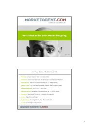 Vertriebskanäle beim Mode-Shopping - Marketagent.com