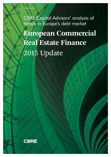 European Commercial Real Estate Finance 2015 Update