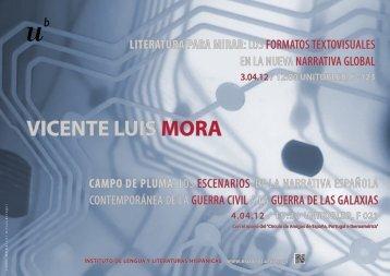 VICENTE LUIS MORA - Instituto de Lengua y Literaturas Hispánicas