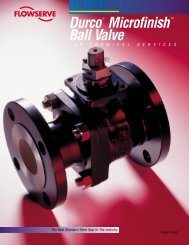 Durco® Microfinish™ Ball Valve - Tri-State Technical Sales Corp.