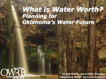 What is Water Worth? - Water Resources Board