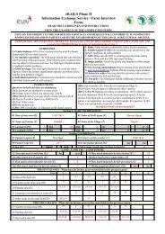 eRAILS Phase II Information Exchange Service - Farm Interview Form