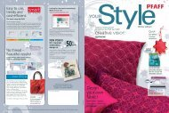 With This Issue Of YOURSTYLE You - Pfaff