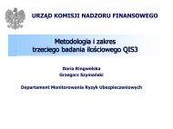 Metodologia i zakres badania QIS3 - Komisja Nadzoru Finansowego