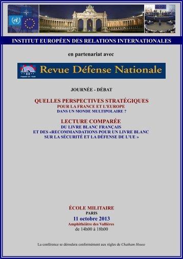 L'Institut européen des relations internationales - Revue Défense ...
