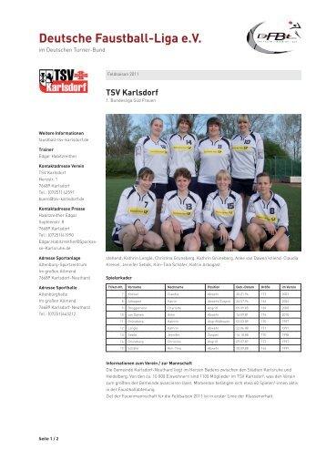 Feldsaison 2011 - Deutsche Faustball-Liga eV