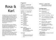 Ausschreibung Rosa und Karl 2009 - Falken Berlin