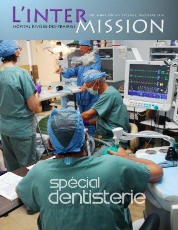 Numéro hors série: spécial dentisterie - Hôpital Rivière-des-Prairies