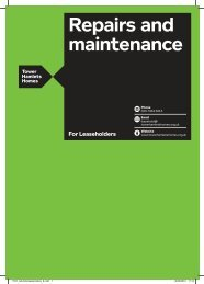 Repairs and maintenance - Tower Hamlets Homes