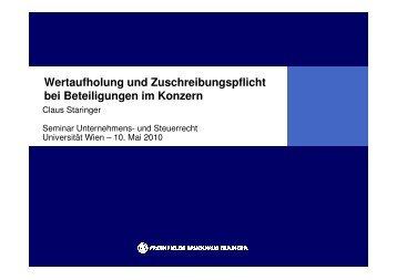 Präsentation Hügel Seminar SS 2010.pdf - bpv Hügel Rechtsanwälte