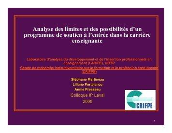 limites 09 - Carrefour national de l'insertion professionnelle en ...