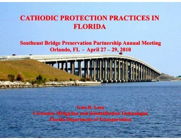 cathodic protection practices in florida - The National Center for ...
