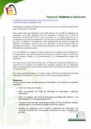 Información Curso II Nivel - Federación Andaluza de Baloncesto