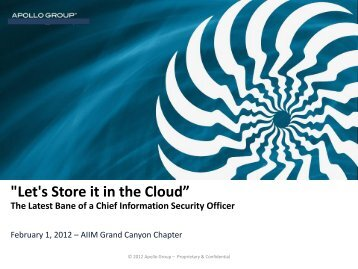 """Let's Store it in the Cloud"" - AIIM"