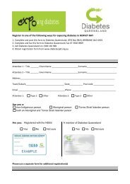 Hervey Bay registration form - Diabetes Queensland