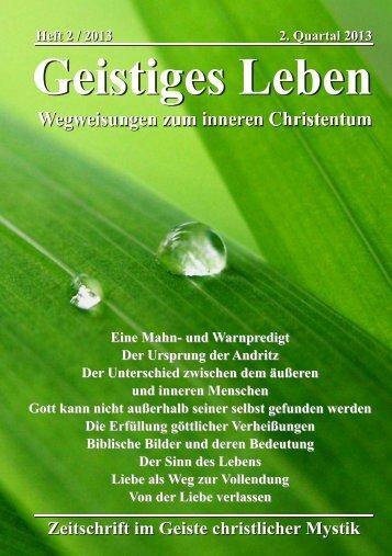 GL 2/2013 - der Lorber-Gesellschaft eV