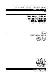 diet, nutrition and the prevention of chronic diseases - Real Food 4 Life