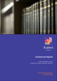 commercial agents 2013 edition - St John's Chambers