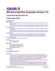 WS-SecurityPolicy Examples Version 1.0 Committee Specification ...