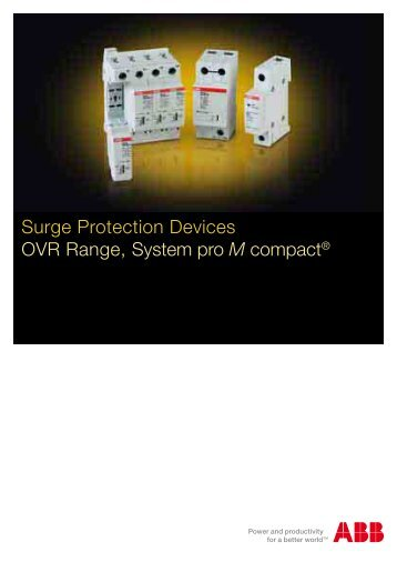 Surge Protection Devices OVR Range, System pro M ... - Contact ABB