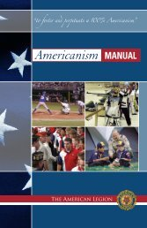 Americanism Manual (PDF) - The American Legion of Iowa