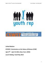April 14 2013, New York, UNHQ Laurin Reding, Youth Re - SAJV