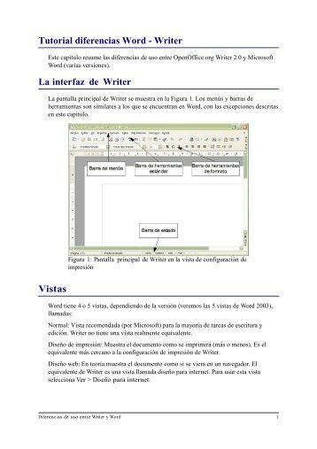 Diferencias writer y word - aula virtual senasa