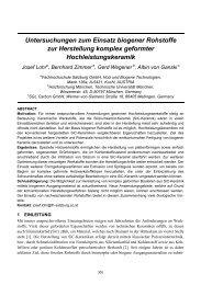 Untersuchungen zum Einsatz biogener Rohstoffe zur Herstellung ...