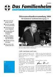 Familienheim 3/2004 - Katholische Familienheimbewegung e.V.