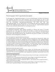 Positionspapier der SAJV zu Jugend und Arbeit , 81.3 KB