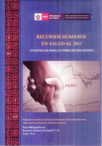 Recursos Humanos en Salud al 2011 - Bvs.minsa.gob.pe