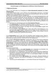 Handreichung Unterrichtsentwurf - OVP 2011