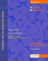 Télécharger les cahiers n°2 - Montbéliard