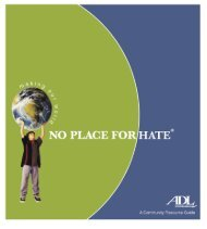 No Place for Hate Resource Guide,