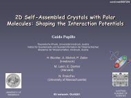 2D Self-Assembled Crystals with Polar Molecules: Shaping the ...