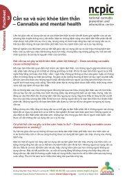 Cần sa và sức khỏe tâm thần - National Cannabis Prevention and ...