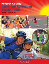 Parks and Recreation Activity Guide - Forsyth County Government