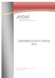 Relazione e Bilancio al 31 Dicembre 2010 - andaf