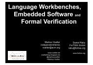 Language Workbenches, Embedded Software and Formal ... - Voelter