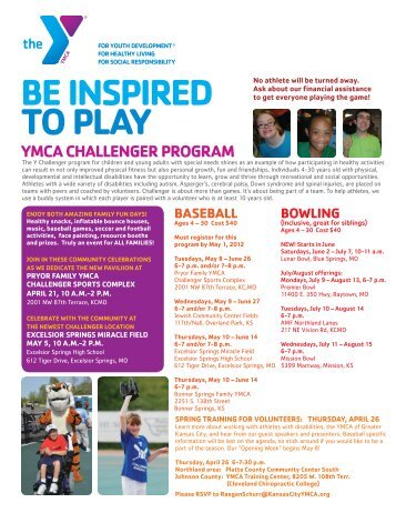 be inspired to play ymca challenger program