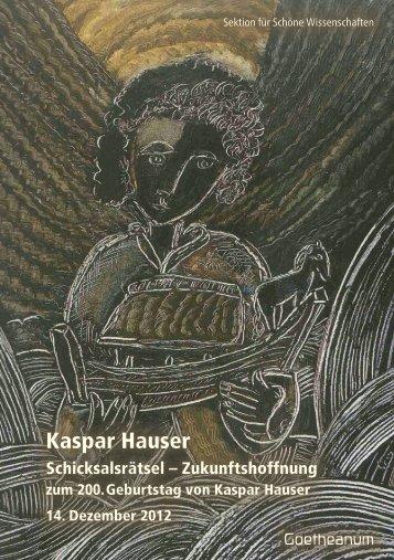 Kaspar Hauser - Karl König Archive