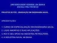 Projetos de Pós-Graduação em Engenharia Naval - UFRB